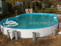 Сборный бассейн в доме