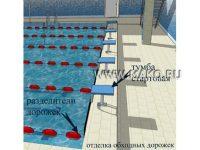 Интерьер спортивного бассейна