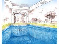 Эскизы бассейнов