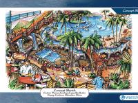 Пляж аквапарка